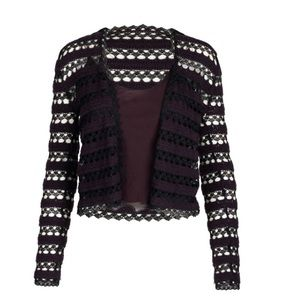 Chanel wool cardigan with silk cami set